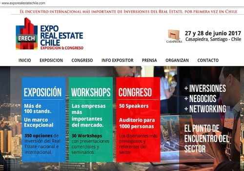Expo Real Estate Chile 2017… 27 y 28 Junio CasaPiedra